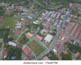 Sky view of Tuaran, Sabah.It is located 34 kilometres north of the state capital Kota Kinabalu, and is strategically situated along the main highway linking KK with the north of Sabah.