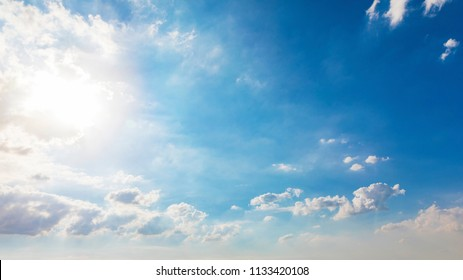 Sky and white clouds in the sky background