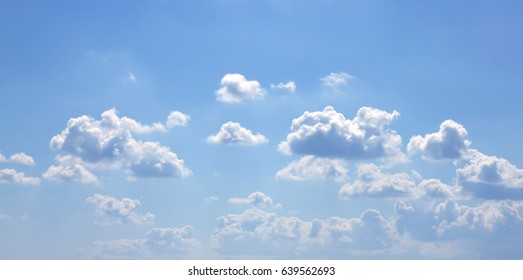 Sky white clouds natural air background texture