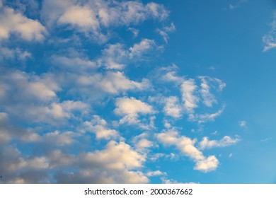 Sky with windy weather clouds scatered by harsh wind. Windy weather concept. Climate change background