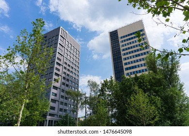 Skycrapers in city of Lodz, Poland