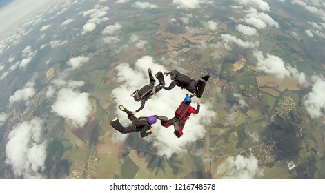Skydive team 4 way