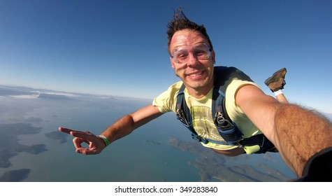Skydiver self portrait