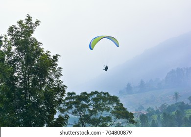 skydiving in puncak, bogor, indonesia