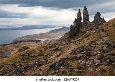 Skye island, the old man of Storr, Scotland highlands