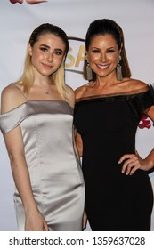 Skye Wilson and Marie Wilson arrives at the 10th Annual Indie Series Awards at The Colony Theatre in Burbank, CA on April 3, 2019.