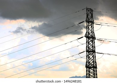 a sky-high telegraph pole steel