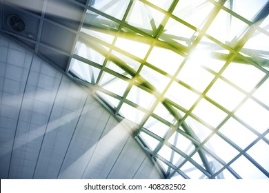Skylight window - abstract architectural background