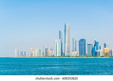 Skyline of Abu Dhabi, UAE