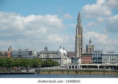 Skyline of Antwerp, Belgium