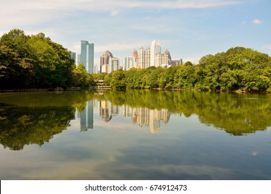 Skyline in Atlanta, Georgia (USA).