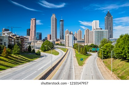 Skyline of Atlanta from Jackson Street Bridge