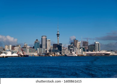 The skyline of Auckland New Zealand. New Zealand August 2019
