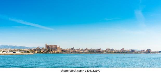 Skyline of the bay of Palma. Majorca