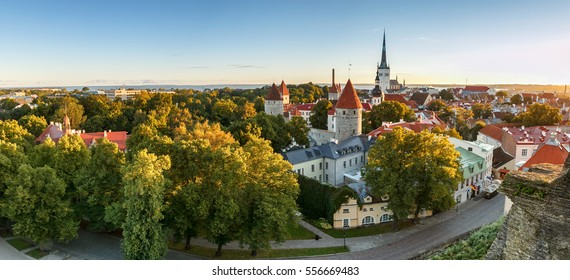Skyline of Beautiful and colourful Tallinn,Estonia.