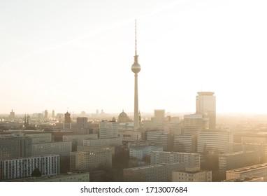 Skyline of Berlin in the evening
