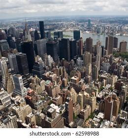 skyline of a big city