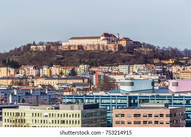 Skyline Of Brno With Spilberk Castle On The Hilltop - Brno, Moravia, Czech Republic, Europe