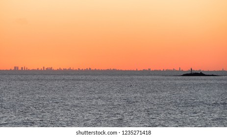 Skyline of Buenos Aires on Argentina view from the ocean