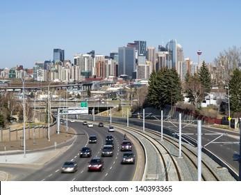 Skyline of Calgary, Alberta, Canada.