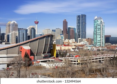 Skyline of Calgary, Alberta, Canada  Picture taken March 1, 2013