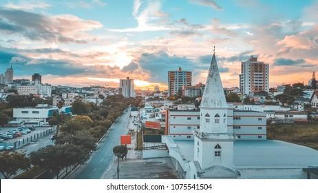 Skyline of Campina Grande, Paraiba, Brazil.