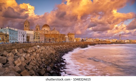 Skyline from Campo del Sur Cadiz Spain