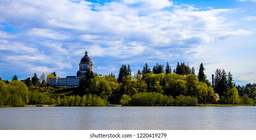 Skyline of Capitol Hill in Olympia, WA.