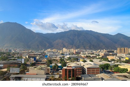 Skyline of Caracas city, capital city of Venezuela.