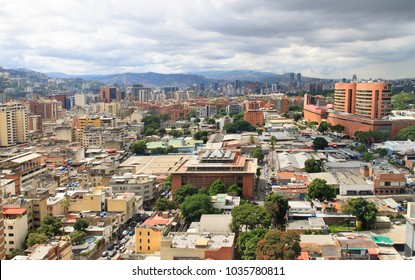 Skyline of Caracas city downtown, Venezuela.