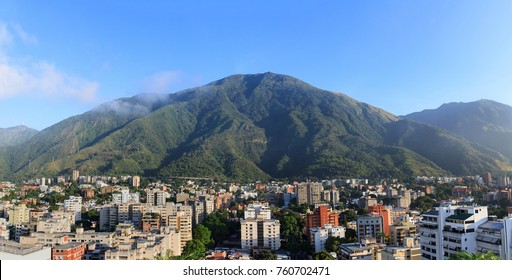 Skyline of Caracas city, Venezuela.