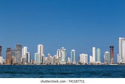 Skyline of Cartagena.Columbia. Caribbean coast.