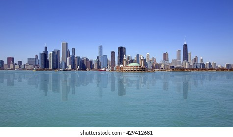 Skyline of Chicago city