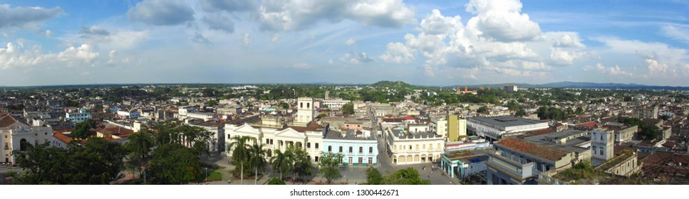 Skyline of Cienfuegos city, Cuba. Panoramic banner of Cienfuegos city. Panoramic view of Cienfuegos city.