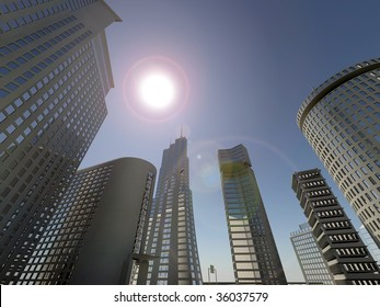 skyline city background