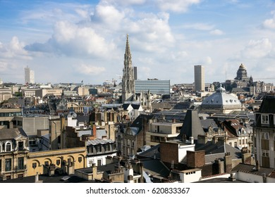 Skyline of the city of Brussels, Belgium