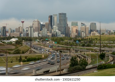 Skyline of the city Calgary, Alberta, Canada