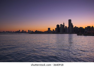 Skyline of the city of Chicago