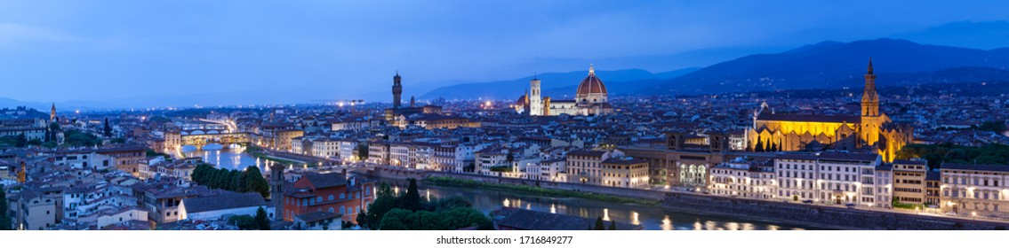 The skyline of the city of Florence, Italy.