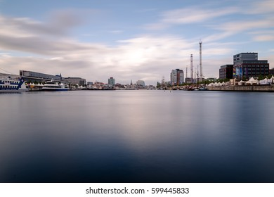 Skyline of city Kiel