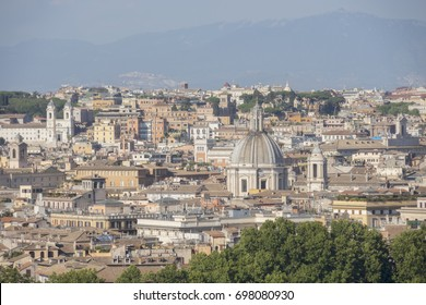 Skyline of city of Rome, Italy