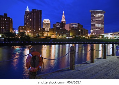 Skyline of Cleveland, Ohio, USA