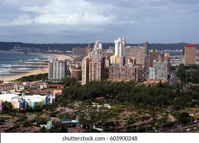 Skyline of coastal city - Durban, South Africa