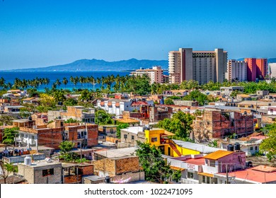 Skyline of colorful Puerto Vallarta, Mexico