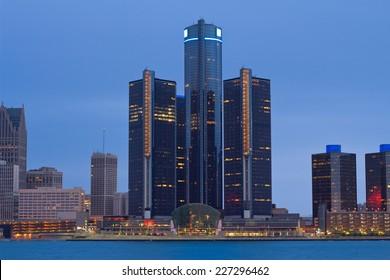 Skyline of Detroit, Michigan, USA