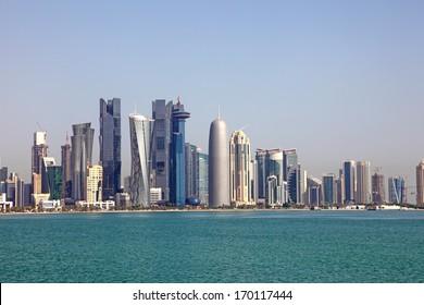 Skyline of Doha. Qatar, Middle East