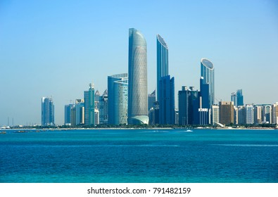 Skyline of downtown Abu Dhabi