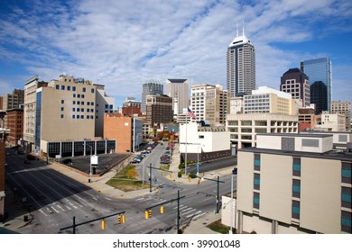 skyline of the downtown area of Indianapolis Indiana