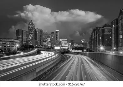 Skyline of Downtown Atlanta, Georgia USA