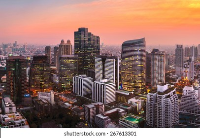 skyline downtown bangkok